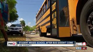 Student Misses School After Bus Doesn't Show - Video
