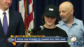 Socal father pushes to change California bullying laws - Video