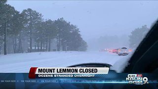 Mount Lemmon closed after heavy snowfall - Video