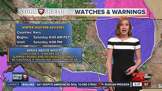 Another night of overnight showers in Kern County - Video
