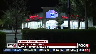 Deputy presence at Lehigh Acres Walgreens Friday morning - Video