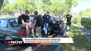 Pasco wildfire forces later school day - Video