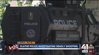 Olathe police investigating overnight homicide - Video