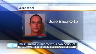 Polk Co. school janitor arrested for inappropriately touching 6-year-old student - Video