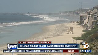 More San Diego County beaches reopen