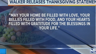Walker's Thanksgiving Message - Video