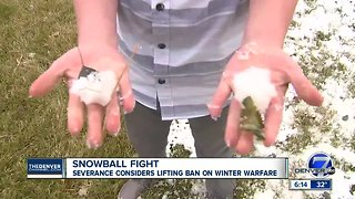 Boy trying to get rid of Colorado town's ban on snowballs