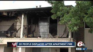 20 people displaced after apartment fire on Indy's north side
