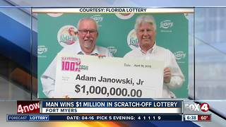 Fort Myers man wins $1 million in scratch-off lottery - Video