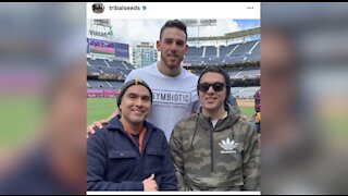 San Diego native and Padres pitcher Joe Musgrove plays local band's song for walk-up