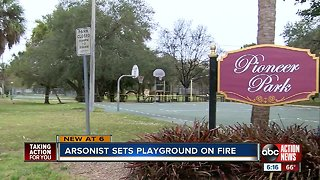 Sarasota playground destroyed by fire, investigators believe arson is to blame