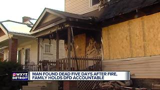 Man found dead five days after fire in Detroit - Video