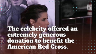 Sandra Bullock Donates One Million Dollars To Victims Of Hurricane Harvey