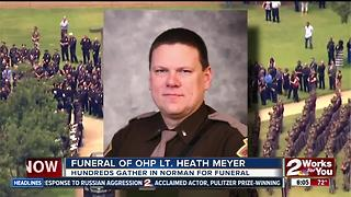 Hundreds attend funeral for OHP Trooper - Video