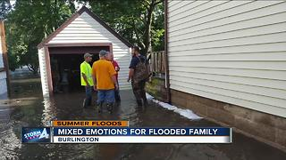 Burlington couple welcomes new baby amidst severe flooding