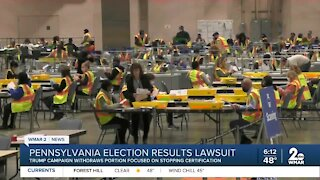 Pennsylvania election results in lawsuit
