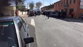 Police on scene at French supermarket hostage situation - Video