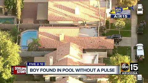 Boy found in Gilbert pool without a pulse