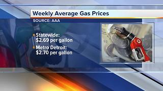 Gas prices in metro Detroit rise again while state price is down