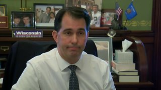Gov. Scott Walker speaks publicly for the first time since the election