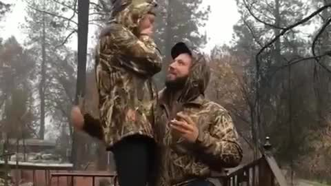 Couple Who Lost House in California Wildfire Get Engaged on Steps of Ruined Home