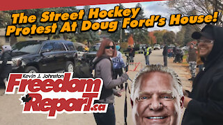 Doug Ford's House - The Street Hockey Game With Police Watching - Interviewing Toronto Police
