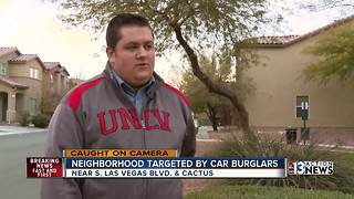 Neighbors: Crooks caught on camera opening family's garage - Video