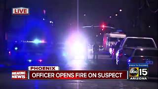 Suspect in custody after shooting with police near 19th Avenue and Van Buren - Video