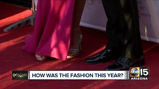 Fashion review at Valley theatre Oscars viewing party