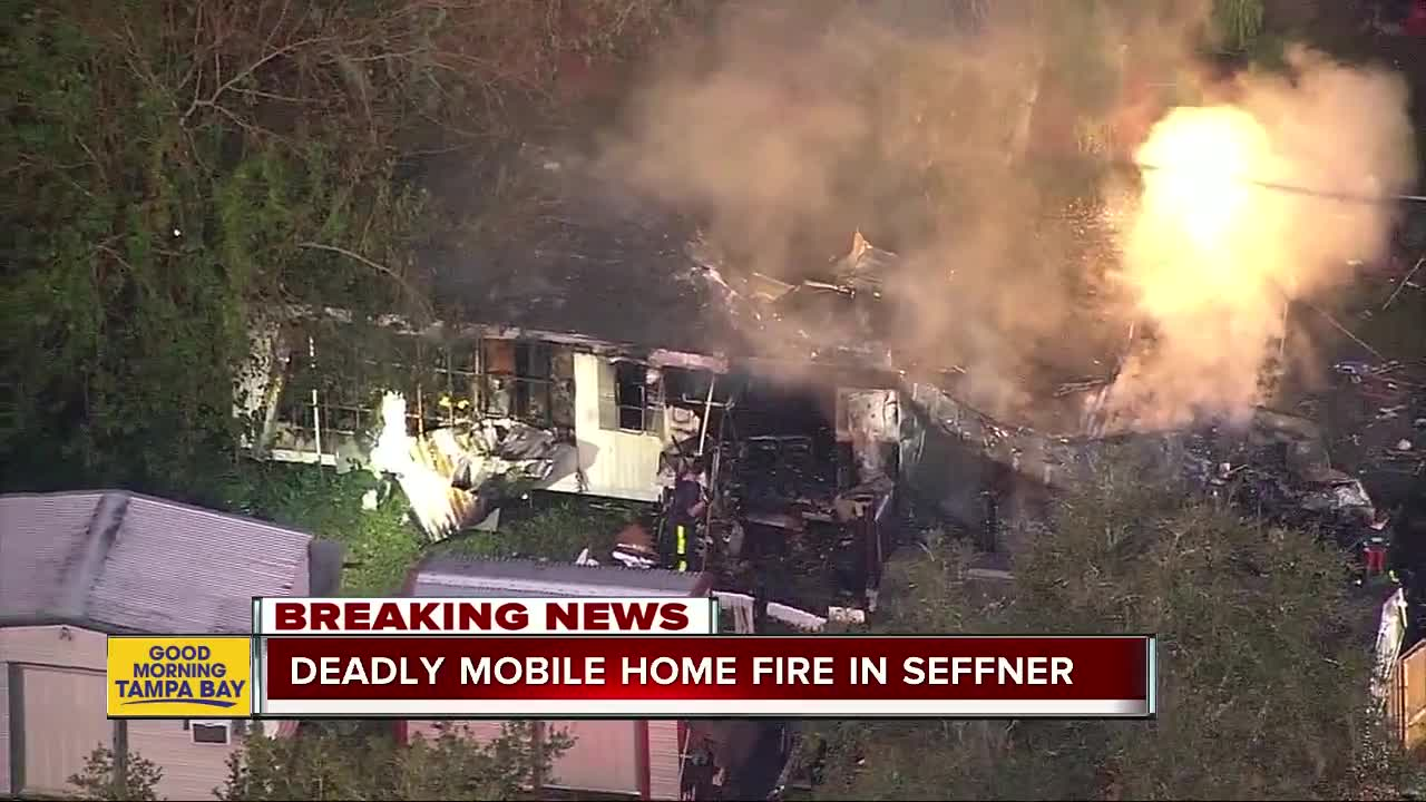 Person killed in mobile home fire in Seffner
