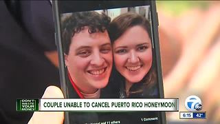 Couple trying to cancel Puerto Rico honeymoon - Video