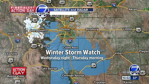 Winter weather watches posted for parts of Colo. Front Range ahead of Wednesday-Thursday snowstorm