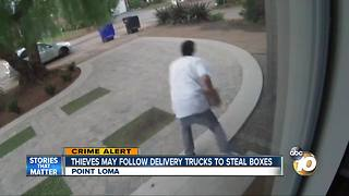 Thieves may be following delivery trucks to steal packages - Video