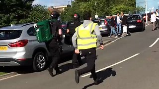 Car Runs Into Child as Crowd Leaves Eid Celebrations in Newcastle - Video