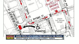 Where people with disabilities can watch the Gasparilla parade - Video