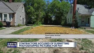 Contractors accused of submitting photoshopped pictures for pay - Video