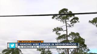 Drooping line sparks concerns in Bonita - Video