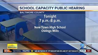 Public meeting on Baltimore County Schools capacity
