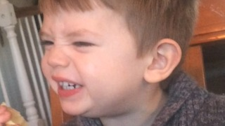 """Toddler can't seem to get enough of this lemon, """"It's too sour""""!"""