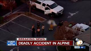 Pedestrian hit, killed in Alpine - Video