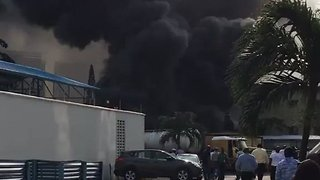 Diesel Explosion at Nigeria's Ecobank Headquarters Fueled by Tanker Truck - Video