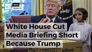 White House Cut Media Briefing Short Because Trump Invited Reporters' Kids Into Oval Office - Video