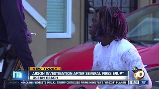 Arson suspected in series of fires in Ocean Beach - Video