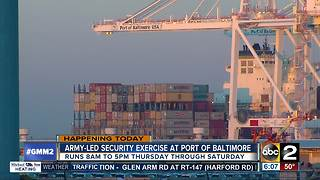Port of Baltimore hosting security exercise this week - Video