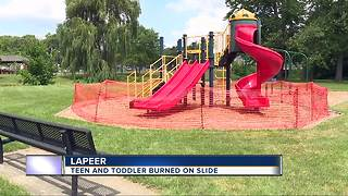 Two kids suffer chemical burns from slide at Lapeer park