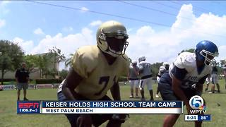 Keiser Football hosts team camp
