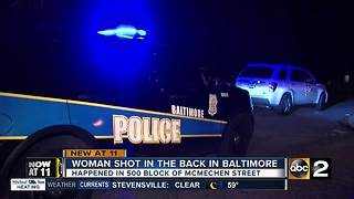 Woman shot in back near Shake and Bake - Video