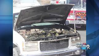 Douglas Police find marijuana in the hood of a car after it caught fire - Video