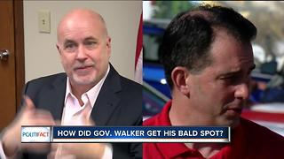 Politifact: How did Gov. Walker get his bald spot? - Video