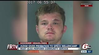 Speck Mellencamp ordered into probation, community service - Video